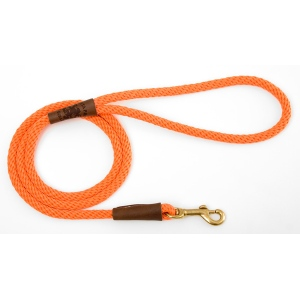 "Mendota Pet Small Snap Leash: Orange, 3/8"" x 4'"