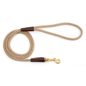 "Mendota Small Snap Leash: Tan, 3/8"" x 4'"