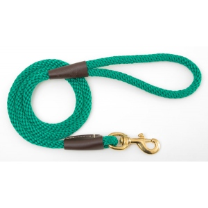 "Mendota Pet Snap Leash: Kelly Green, 1/2"" x 4'"