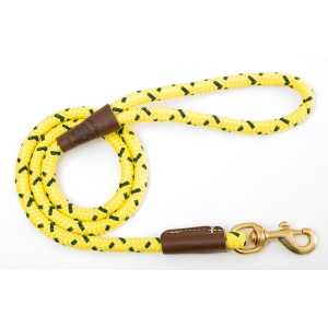 "Mendota Snap Leash: Hi-Viz Yellow, 1/2"" x 4'"