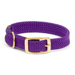 "Mendota Double Braid Collar: Purple, 1""W Up to 18"""