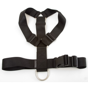 Mendota Heavy Duty Tracking Harness: Black, One Size Fits All