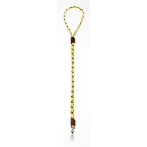 Mendota Whistle Lanyard: Single, Hi-Viz Yellow