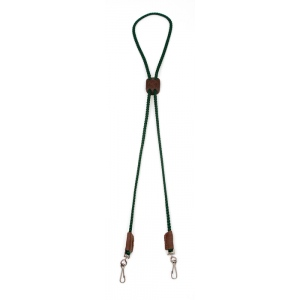 Mendota Whistle Lanyard: Double, Green
