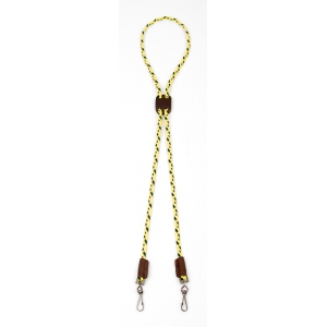 Mendota Whisle Lanyard: Double, Hi-Viz Yellow