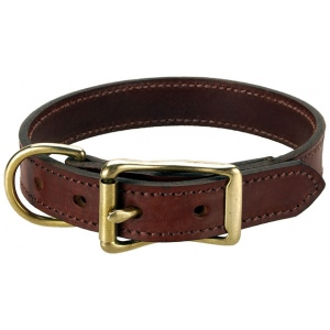 "Mendota Pet Wide Standard Collar: Chestnut, 1"" x 16"""