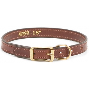 "Mendota Pet Narrow Standard Collar: Chestnut, 3/4"" x 14"""