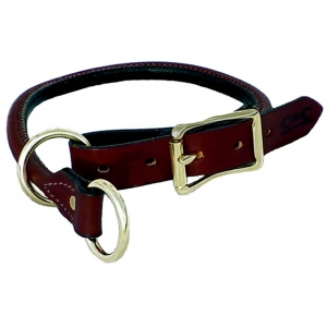 "Mendota Training Collar: Chestnut, 1"" x 20"""