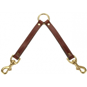 "Mendota Pet Two Dog Coupler: Chestnut, 13"" x 3/4"""