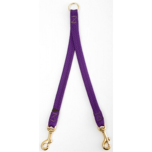 "Mendota Pet Small Breed Dog Coupler: Purple, 2-Dog, 9/16""w x 24"""