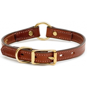 "Mendota Narrow Hunt Collar: Chestnut, 3/4"" x 18"""