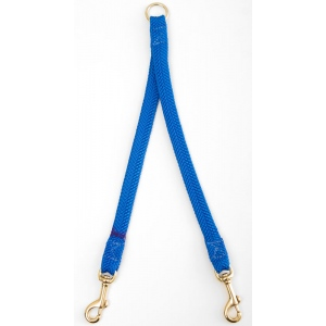 "Mendota Large Breed Dog Coupler: Blue, 2-Dog, 1""w x 28"""
