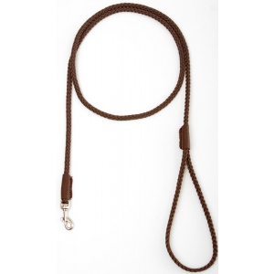 "Mendota Pet British Show Snap Leash: Dark Brown, 1/8"" x 4'"