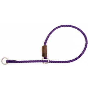 "Mendota Pet Show Slip Collar: Purple, 1/8"" x 22"""