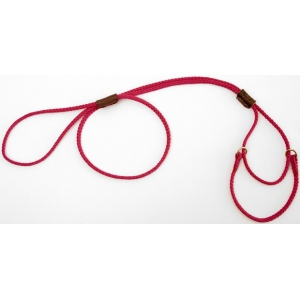 "Mendota Martingale Show Lead: Raspberry, Small 8"", 1/8"" x 40"""