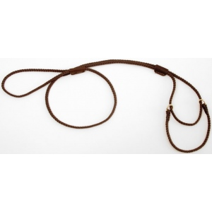 "Mendota Pet Martingale Show Lead: Dark Brown, Medium 10"", 1/8"" x 40"""