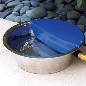 "RPI Sir Aqua II Automatic Float Waterer 1.8 gallon Silver / Blue 13.5"" x 13.5"" x 4.5"""