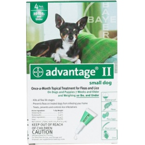 Advantage Flea Control for Dogs and Puppies Under 10 lbs 4 Month Supply