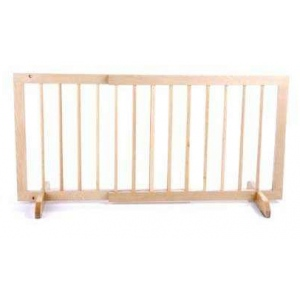 "Cardinal Gates Step Over Free Standing Pet Gate Light Oak 28"" - 51.75"" x 2"" x 20"""