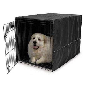 "Midwest Quiet Time Pet Crate Cover Black 23"" x 13.5"" x 15"""