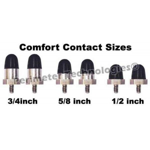 Perimeter Technologies Comfort Contact Replacement Tips Black