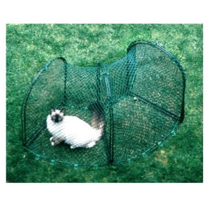 "Kittywalk Curves (2) Outdoor Cat Enclosure Green 48"" x 18"" x 24"""