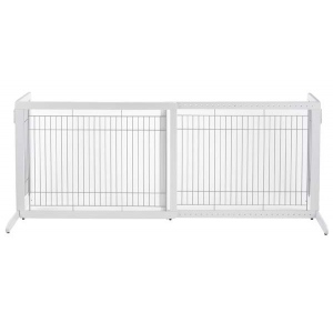 "Richell Freestanding Pet Gate HL White 39.4"" - 70.9"" x 23.6"" x 27.6"""