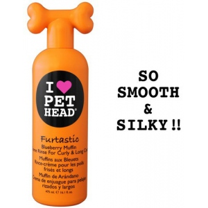 Pet Head Furtastic Crème Rinse for Curly and Long Coat: Blueberry Muffin, 16 oz