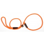 "Mendota British Style Small Slip Lead Rope: Leash and Collar in One, Orange, 3/8"" x 4'"