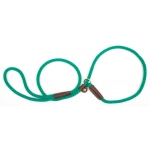 "Mendota British Style Small Slip Lead Rope: Leash and Collar in One, Kelly Green, 3/8"" x 4'"