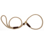 "Mendota British Style Small Slip Lead Rope: Leash and Collar in One, Tan, 3/8"" x 4'"
