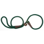 "Mendota British Style Slip Lead Rope: Leash and Collar in One, Green, 1/2"" X 4'"