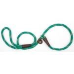 "Mendota British Style Slip Lead Rope: Leash and Collar in One, Kelly Conf, 1/2"" X 4'"
