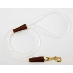 "Mendota Small Snap Leash: White, 3/8"" x 4'"