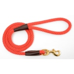 "Mendota Snap Leash: Red, 1/2"" x 4'"
