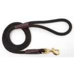 "Mendota Snap Leash: Black, 1/2"" x 4'"
