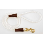 "Mendota Snap Leash: White, 1/2"" x 4'"