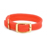"Mendota Double Braid Collar: Red, 1""W Up to 18"""