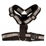 Mendota Heavy Duty Tracking Harness: Black with Reflective, One Size Fits All