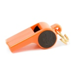 Mendota Roy Gonia Training Whistle with Black Spot and Pea: Orange