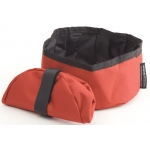 Mendota Collapsible Water Bowl: Red
