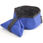 Mendota Collapsible Water Bowl: Blue