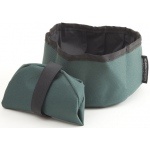 Mendota Collapsible Water Bowl: Green