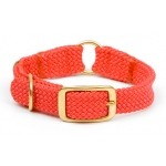 "Mendota Center Ring Collar: Red, 1""W Up to 18"""