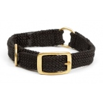 "Mendota Center Ring Collar: Black, 1""W Up to 18"""
