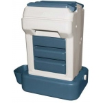 "Bergan K-9 Cafe Tray Pack Pet Food Dispenser Gray / Blue 26"" x 23.25"" x 15"""