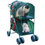 "Kittywalk Double Decker Pet Stroller Striped 30"" x 16"" x 41.5"""