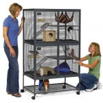 "MidWest Homes for Pets Critter Nation Double Level: 36"" x 24"" x 63"""