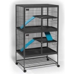 "MidWest Homes for Pets Ferret Nation Double Unit with Stand Platinum: Gray Hammertone, 36"" x 25"" x 62.5"""