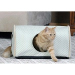 "K&H Pet Products Indoor Kitty Camper: Polka Dot, Sage, 13"" x 18"" x 10"""